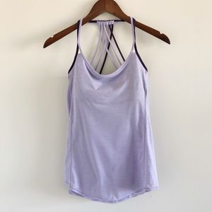Lululemon Lighten Up 2-in-1 Tank Heathered Lilac 6